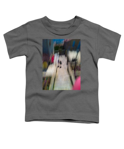 Toddler T-Shirt featuring the photograph On The Stairs by Alex Lapidus