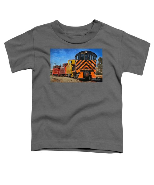 On The Tracks Toddler T-Shirt by Peggy Hughes