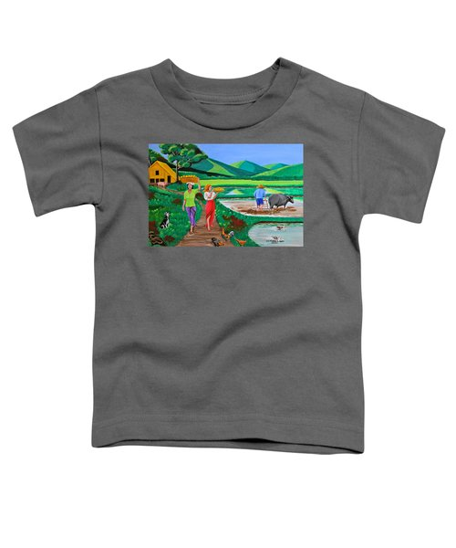 One Beautiful Morning In The Farm Toddler T-Shirt