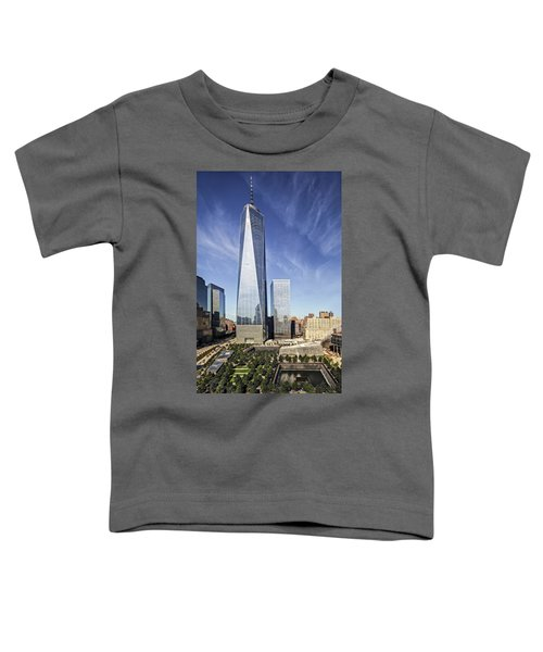 One World Trade Center Reflecting Pools Toddler T-Shirt
