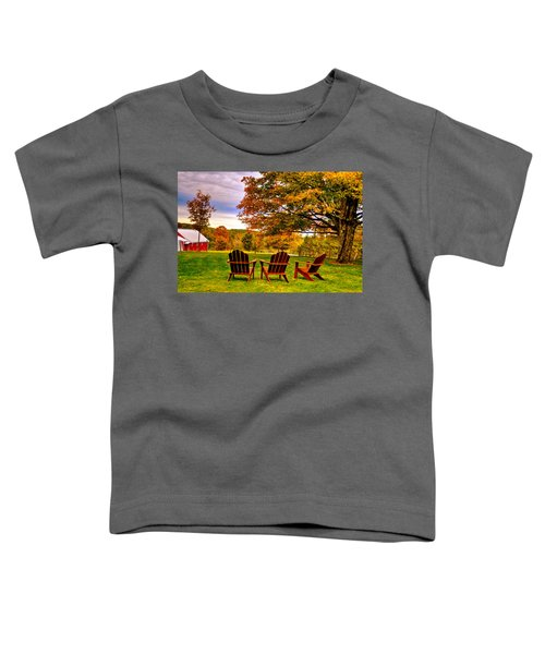 Toddler T-Shirt featuring the photograph Open Seating by Andrea Platt