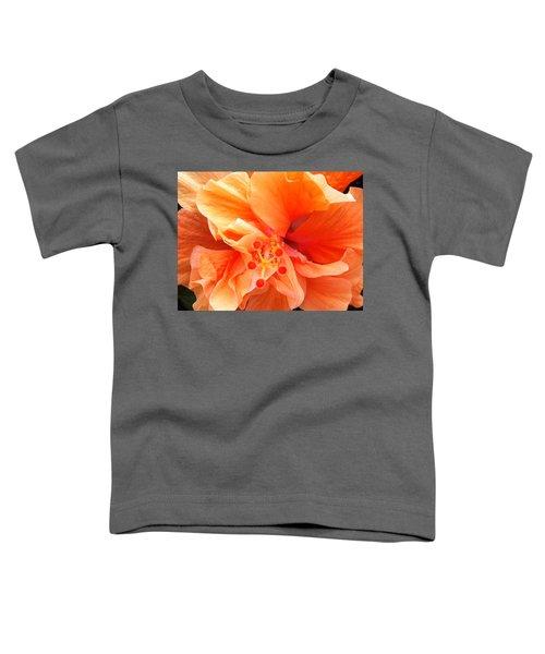Orange Hibiscus Toddler T-Shirt