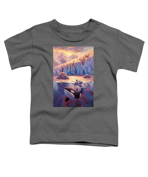 Orca Sunrise At The Glacier Toddler T-Shirt