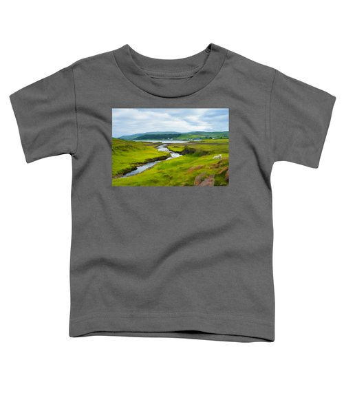 Osdale River Leading Into Loch Dunvegan In Scotland Toddler T-Shirt