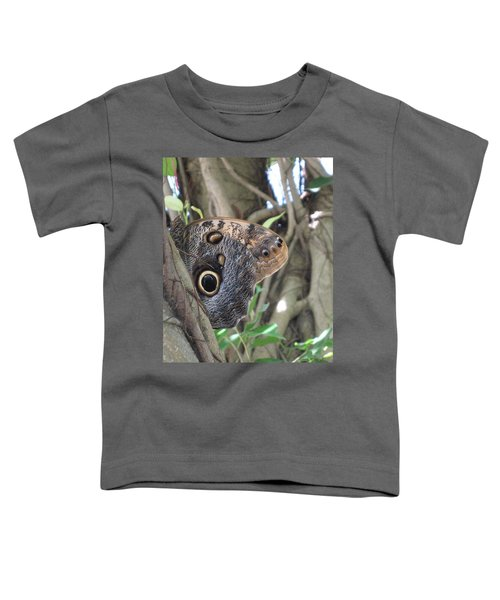 Owl Butterfly In Hiding Toddler T-Shirt