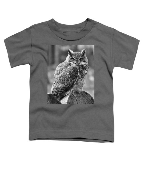 Owl In Black And White Toddler T-Shirt