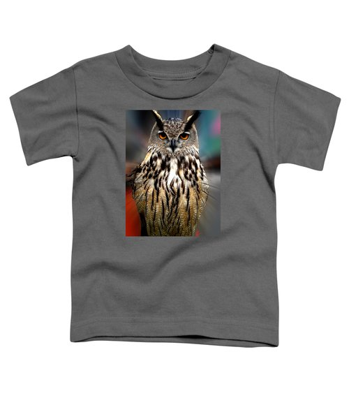 Toddler T-Shirt featuring the photograph Owl Living In The Spanish Mountains by Colette V Hera  Guggenheim