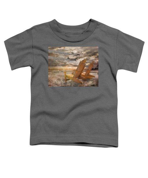 Pairs Along The Coast Toddler T-Shirt by Betsy Knapp