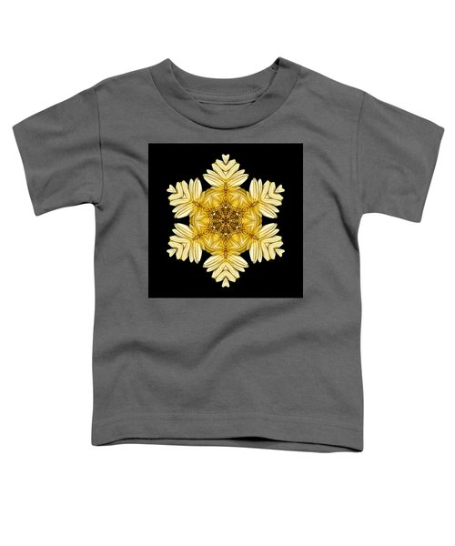 Pale Yellow Gerbera Daisy Vii Flower Mandalaflower Mandala Toddler T-Shirt