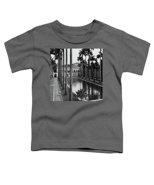 Palm Trees Bordering A Pool Toddler T-Shirt