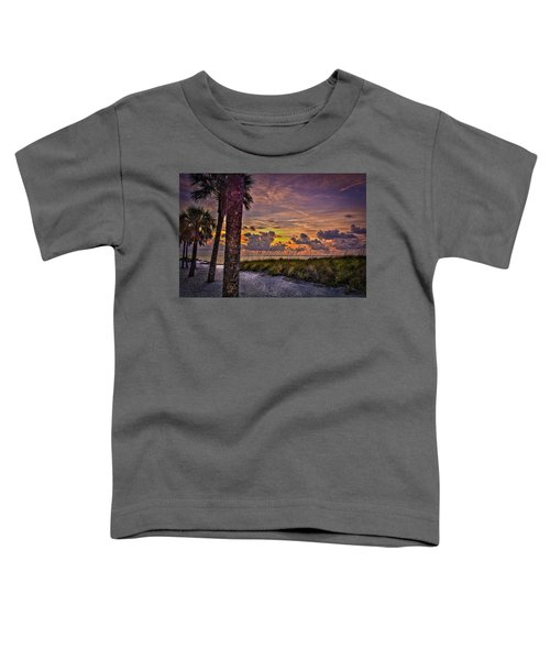 Palms Down To The Beach Toddler T-Shirt