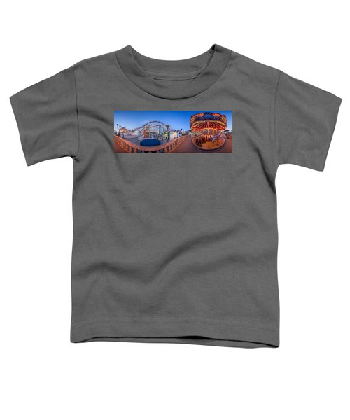 Panorama Giant Dipper Goes 360 Round And Round Toddler T-Shirt