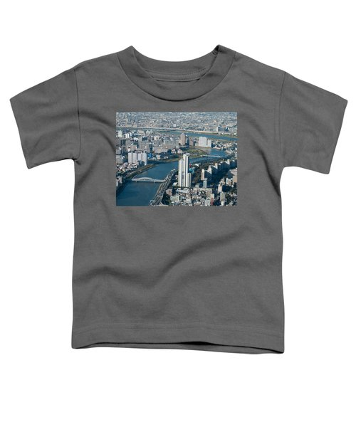 Panorama Of Tokyo Toddler T-Shirt by Jill Mitchell