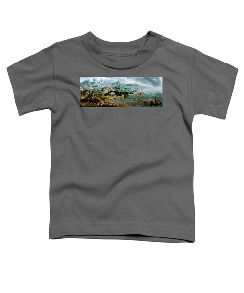 Panorama With The Abduction Of Helen Amidst The Wonders Of The Ancient World Toddler T-Shirt