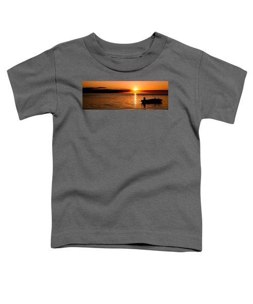 Panoramic Photo Of Sunrise At Monkey Mia Of Australia Toddler T-Shirt