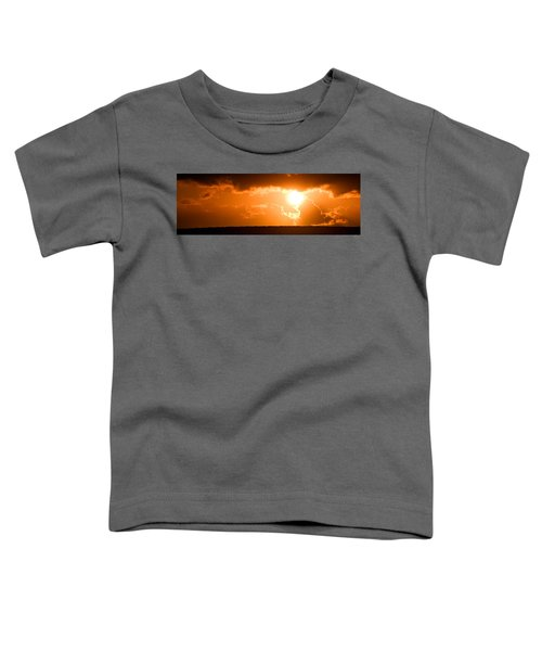 Panoramic Photo Of Sunset At Monkey Mia  Toddler T-Shirt