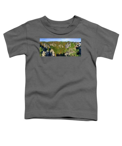 Panoramic View Of The Elbe Sandstone Mountains Toddler T-Shirt