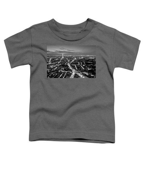 Paris Cityscape At Night / Paris Toddler T-Shirt