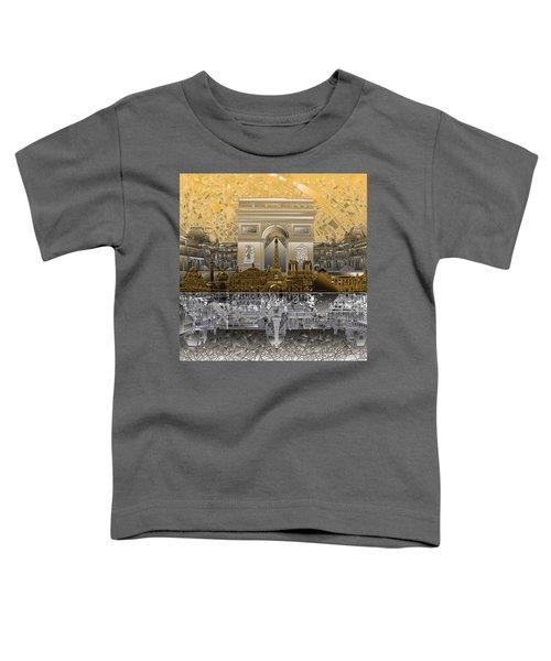 Paris Skyline Landmarks 5 Toddler T-Shirt