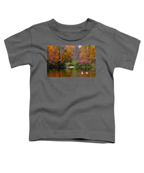 Toddler T-Shirt featuring the photograph Peaceful Lake by Andrea Platt