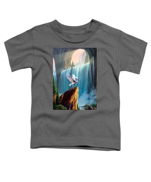 Pegasus Kingdom Toddler T-Shirt by Garry Walton