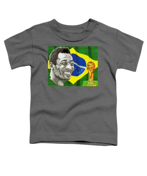Pele Toddler T-Shirt by Cory Still
