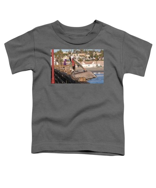 Pelican Sitting On Pier  Toddler T-Shirt
