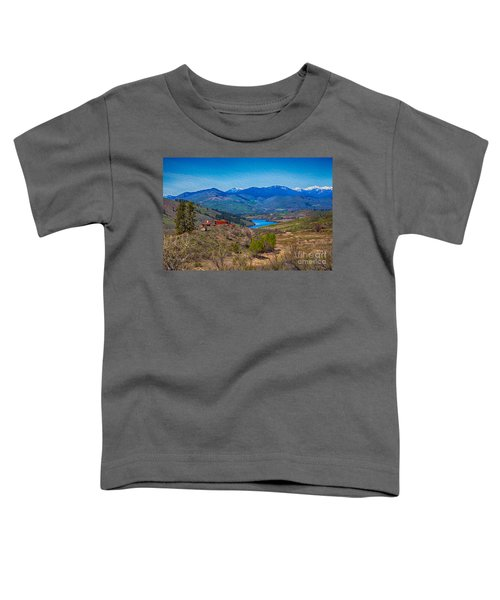 Perrygin Lake In The Methow Valley Landscape Art Toddler T-Shirt