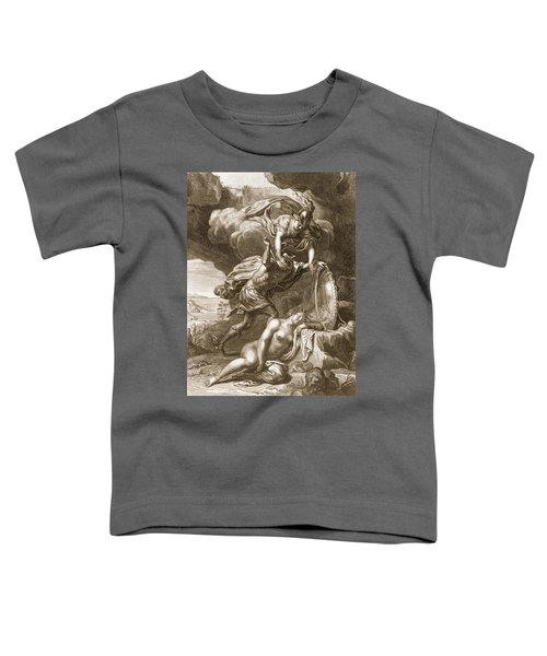 Perseus Cuts Off Medusas Head, 1731 Toddler T-Shirt by Bernard Picart