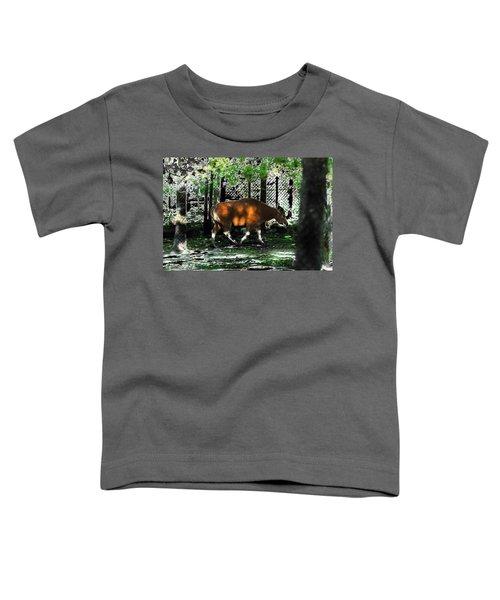Phenomena Of Banteng Walk Toddler T-Shirt by Miroslava Jurcik