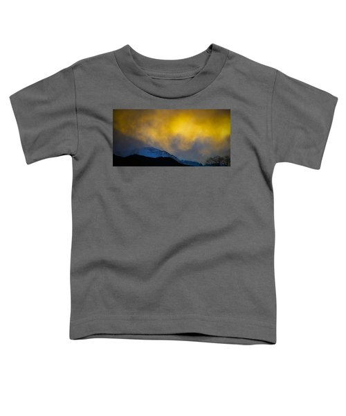 Pike's Peak Snow At Sunset Toddler T-Shirt