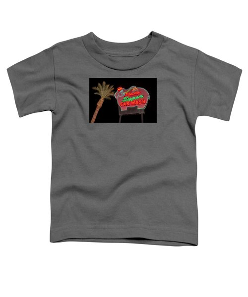 Pink Elephant Car Wash 36 X 24 Toddler T-Shirt