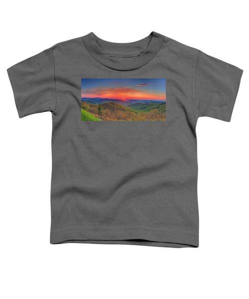 Pink Sunrise At Skyline Drive Toddler T-Shirt