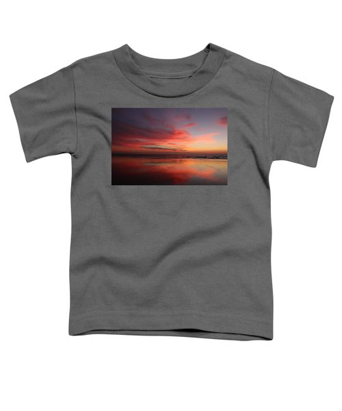 Ocean Sunset Reflected  Toddler T-Shirt
