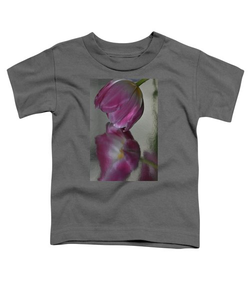 Pink Tulip Reflected In Silver Water Toddler T-Shirt