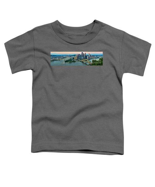 Pittsburgh Panorama At Dusk Toddler T-Shirt