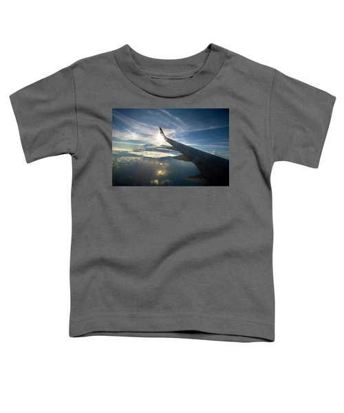 Plane Flies Over The Pacific Ocean Toddler T-Shirt