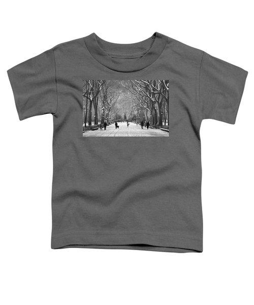 New York City - Poets Walk Winter Toddler T-Shirt