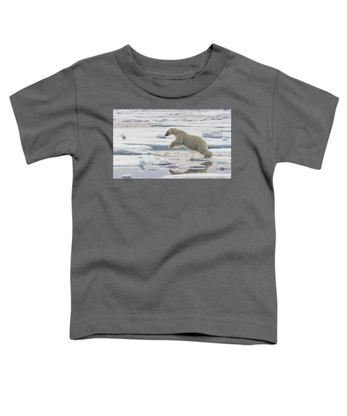 Polar Bear Jumping  Toddler T-Shirt
