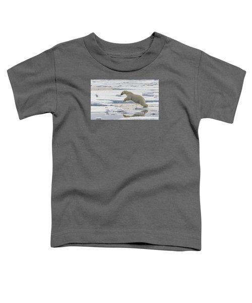 Polar Bear Jumping  Toddler T-Shirt