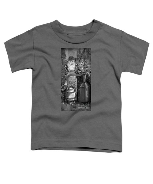 Popcorn Sutton - Black And White - Legendary Toddler T-Shirt