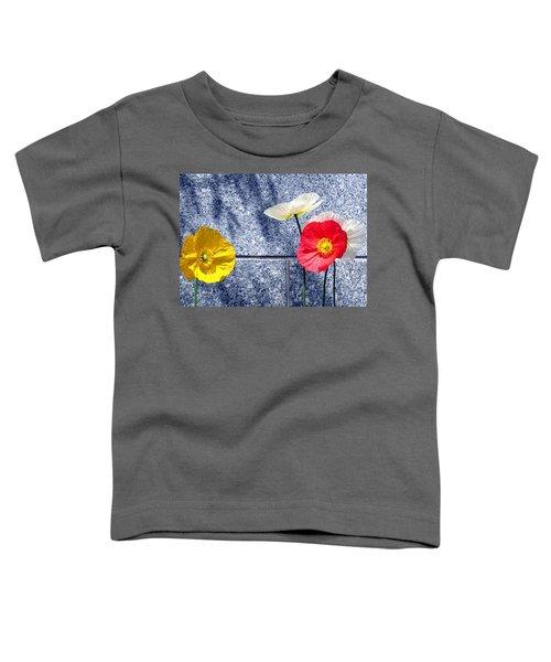 Poppies And Granite Toddler T-Shirt