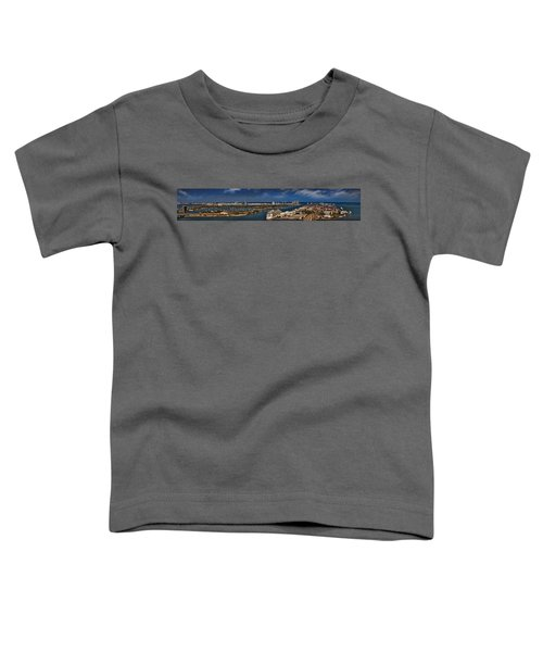 Port Of Miami Panoramic Toddler T-Shirt by Susan Candelario
