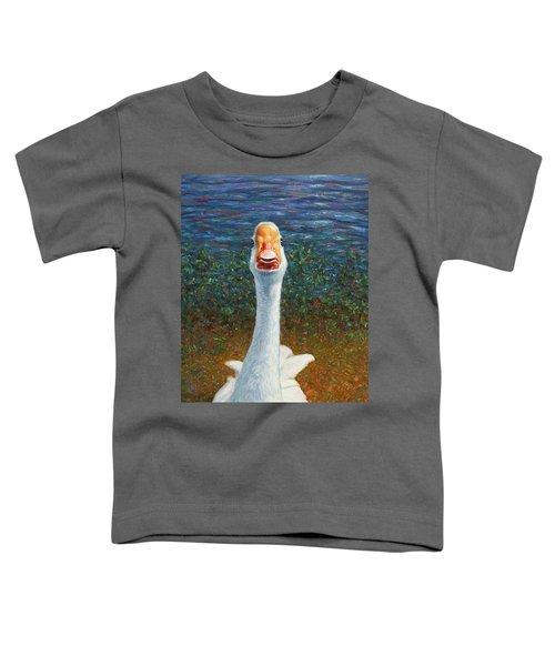 Portrait Of A Goose Toddler T-Shirt
