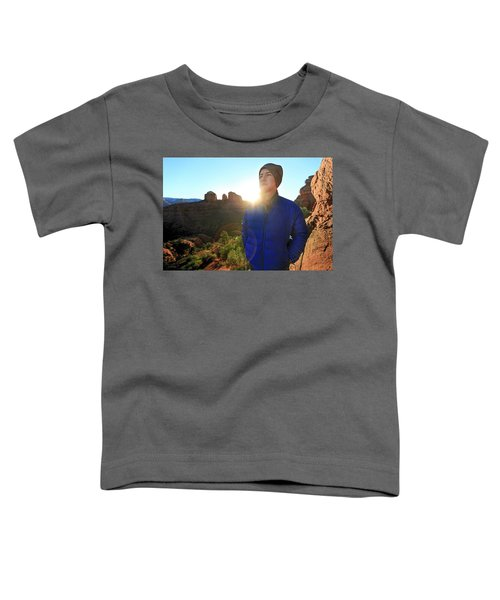 Portrait Of A Male Hiker In Sedona Toddler T-Shirt