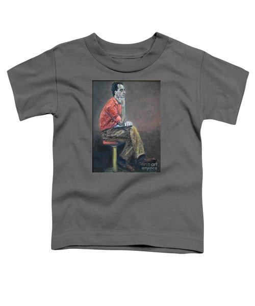 Portrait Of Ali Akrei - The Painter Toddler T-Shirt