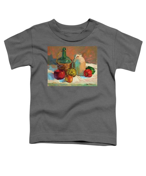 Pottery And Vegetables Toddler T-Shirt by Diane McClary