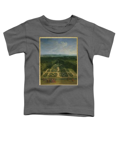Promenade Of Louis Xiv 1638-1715 In The Gardens Of The Grand Trianon, 1713 Oil On Canvas Toddler T-Shirt
