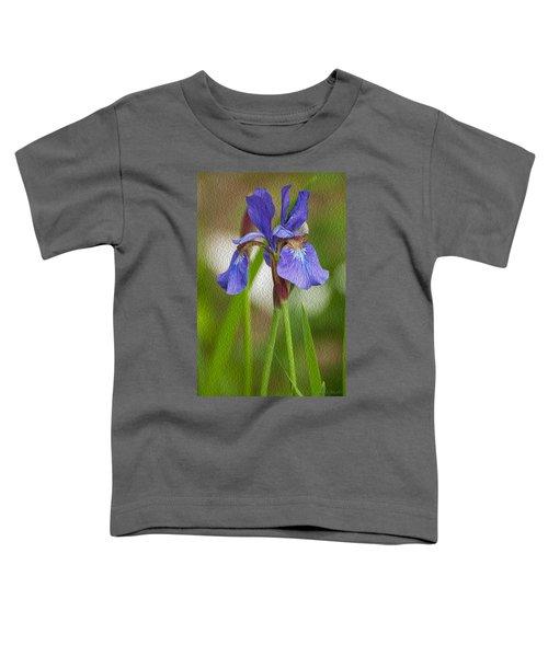 Purple Bearded Iris Oil Toddler T-Shirt