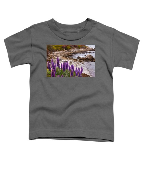 Purple California Coastline Toddler T-Shirt